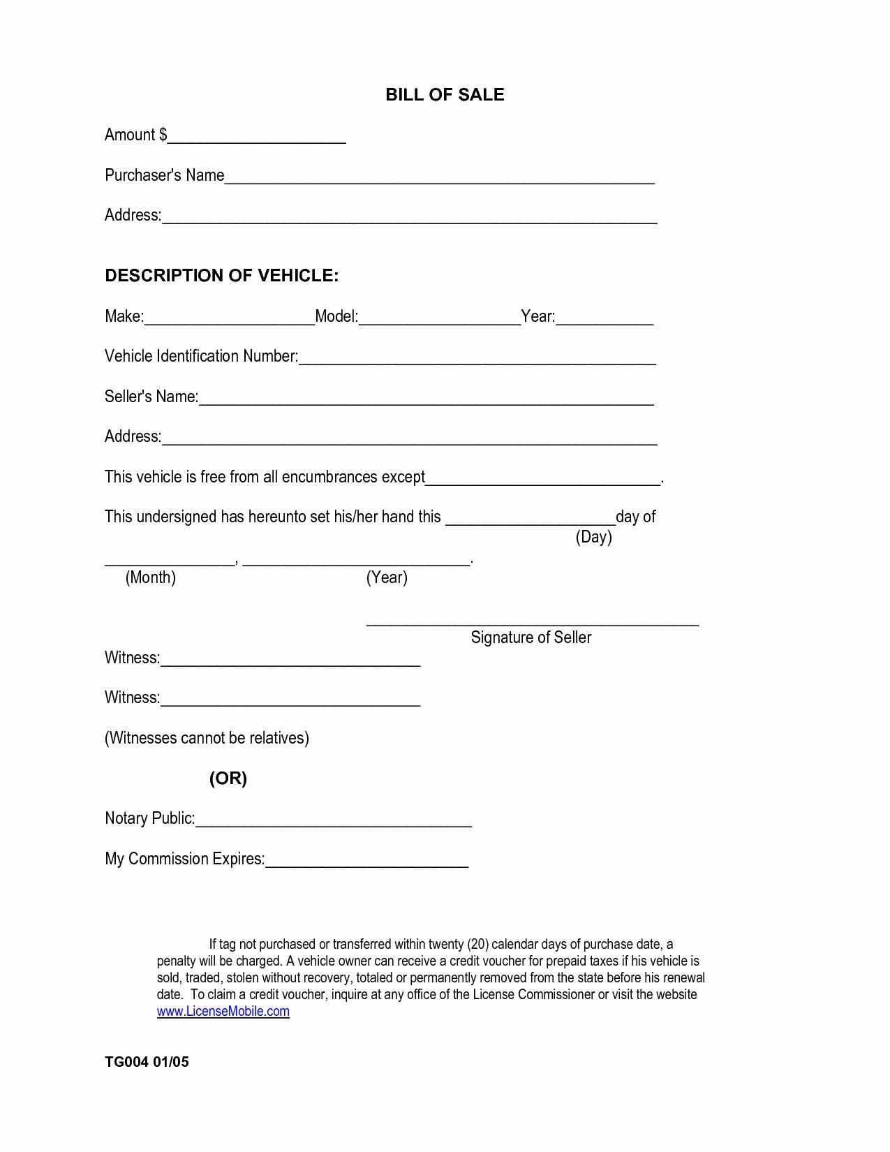 Printable Bill Of Sale form Inspirational Printable Sample Car Bill Of Sale form