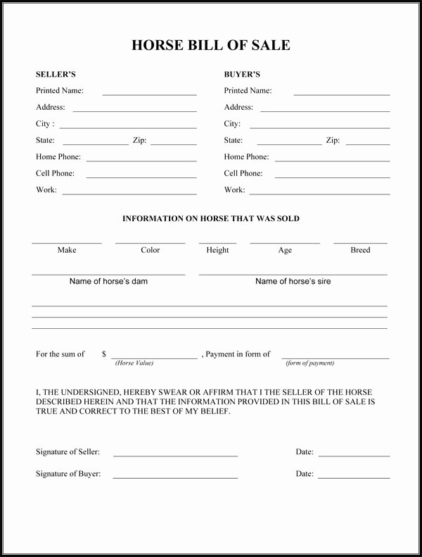 Printable Bill Of Sale form Lovely Best S Of Easy Printable Bill Sale Free