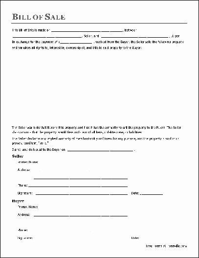 Printable Bill Of Sale form Luxury Download Bill Sale form Pdf