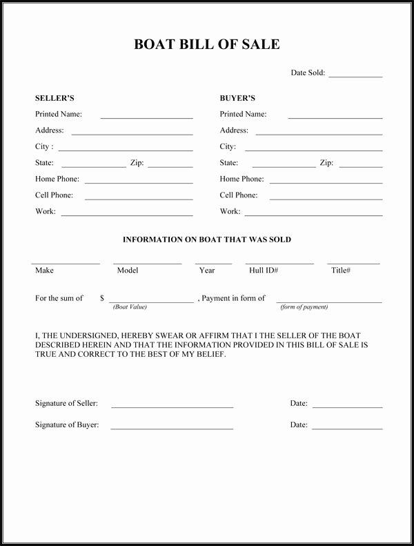 Printable Bill Of Sale form New Free Printable Camper Bill Of Sale form Free form Generic