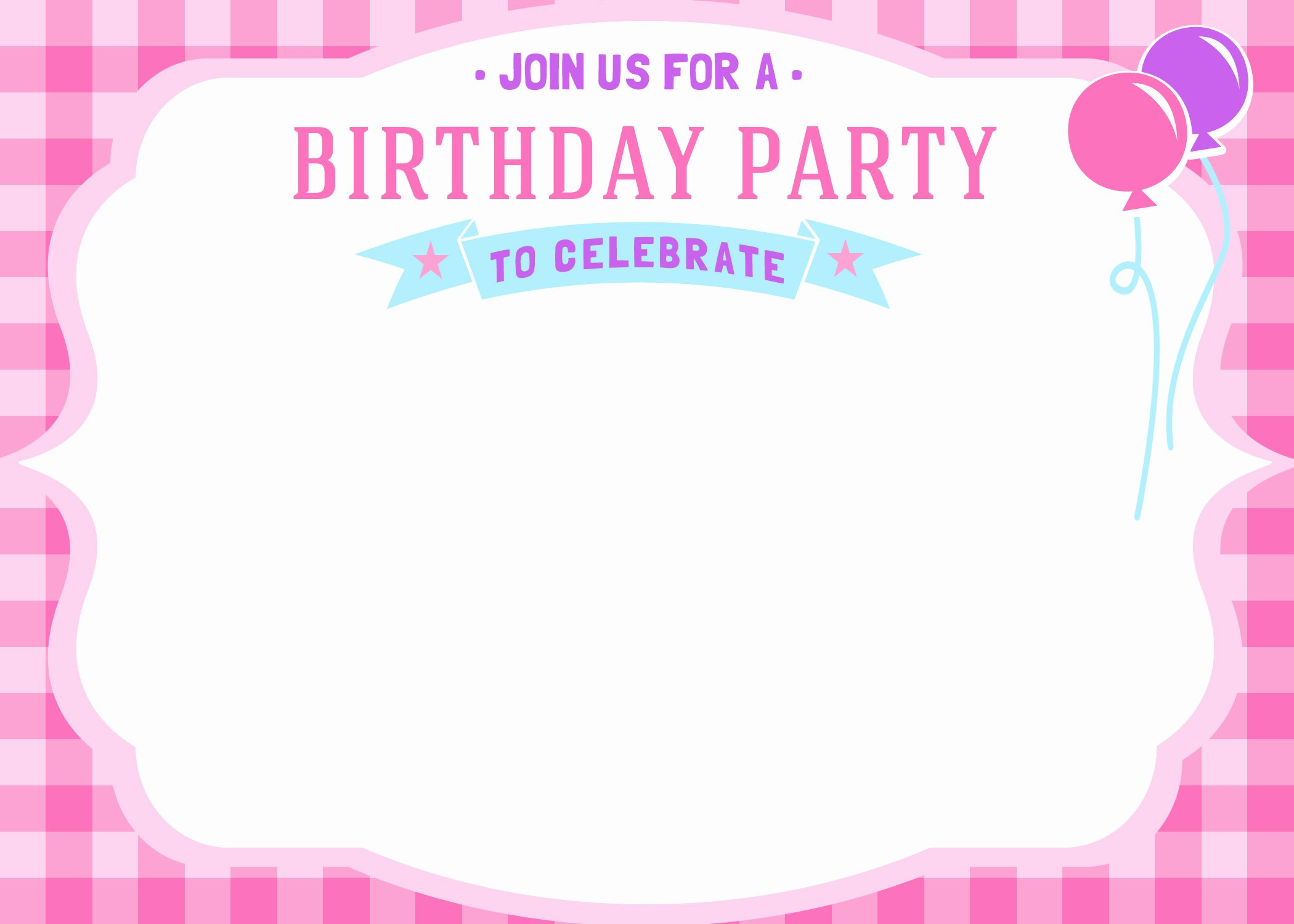 Printable Birthday Party Invitations Awesome Free Printable Girls Birthday Invitations – Free Printable