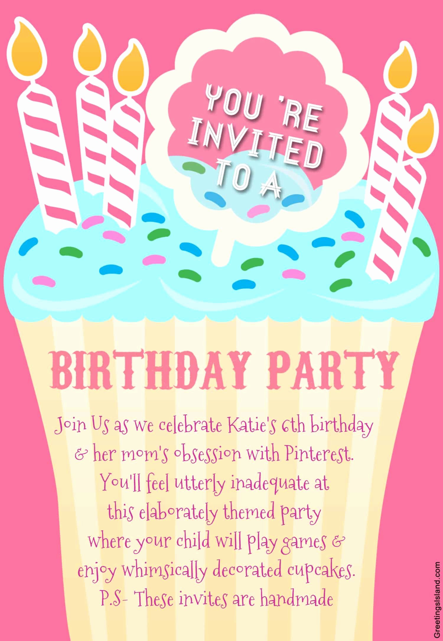 Printable Birthday Party Invitations Awesome Honest Birthday Party Invitations