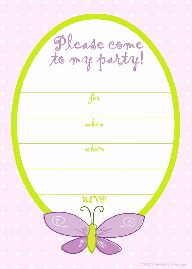 Printable Birthday Party Invitations Elegant Free Printable Girls Birthday Invitations – Free Printable