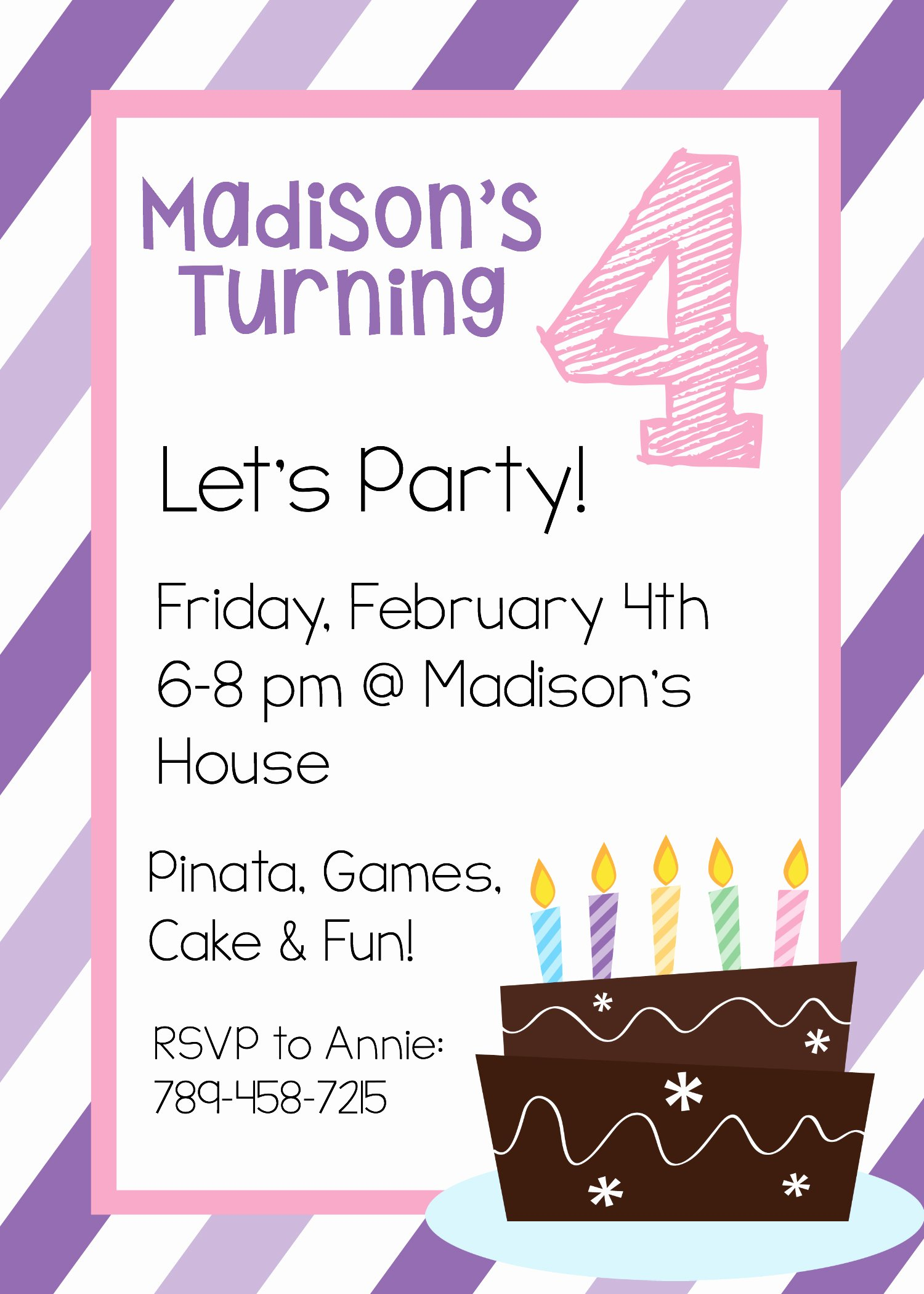 Printable Birthday Party Invitations Inspirational Free Printable Birthday Invitation Templates