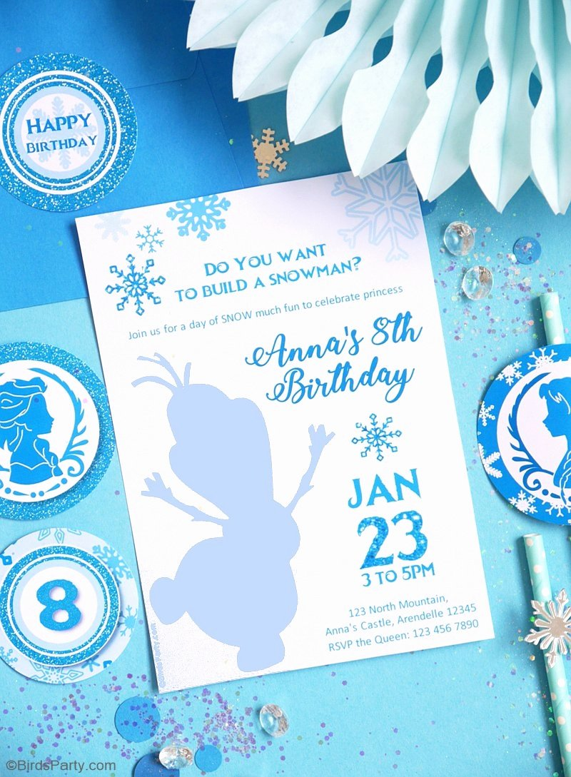 Printable Birthday Party Invitations Luxury A Frozen Inspired Birthday Party Party Ideas