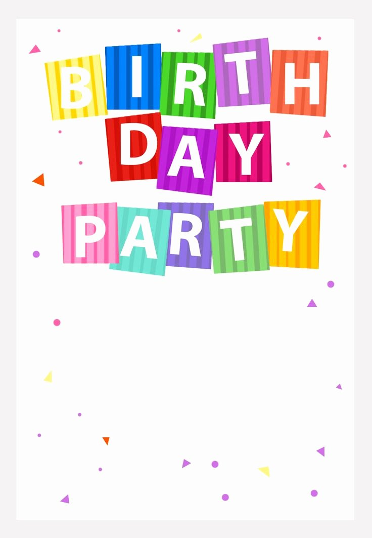 Printable Birthday Party Invitations New Free Printable Party Confetti Invitation