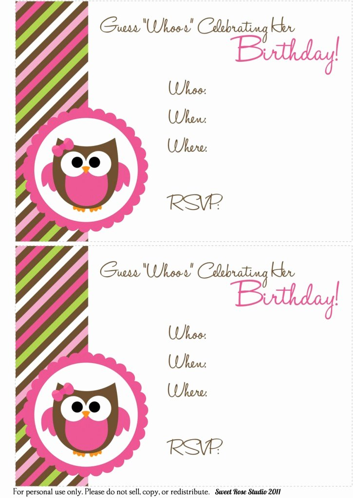 Printable Birthday Party Invitations Unique 41 Printable Birthday Party Cards & Invitations for Kids