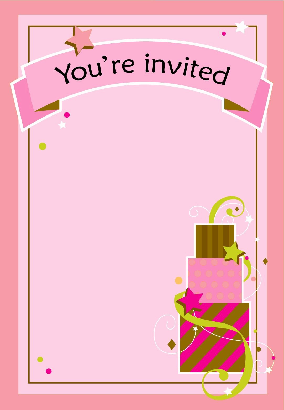Printable Birthday Party Invitations Unique Free Printable Girl Fun Birthday Invitation