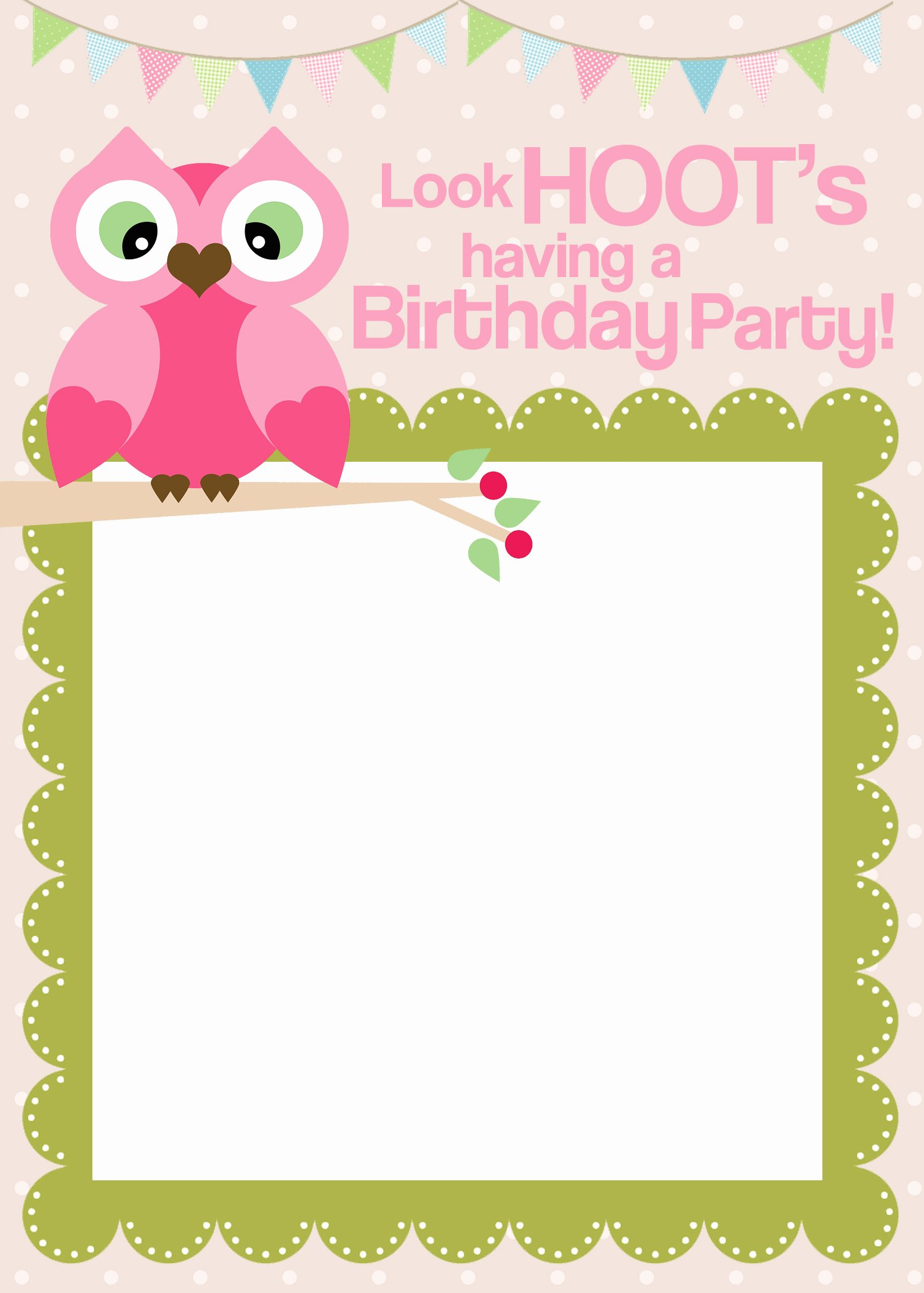 Printable Birthday Party Invitations Unique Owl Birthday Party with Free Printables How to Nest for