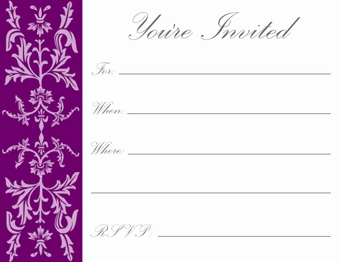 Printable Birthday Party Invitations Unique Printable Birthday Invitations