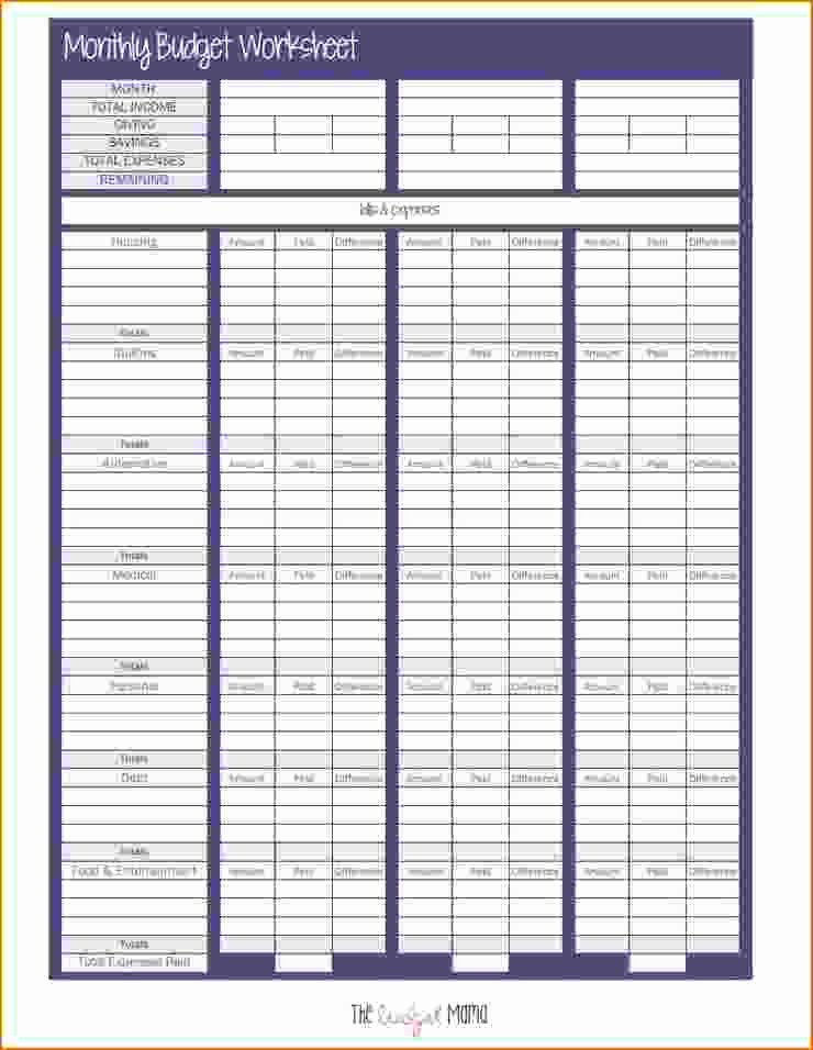 Printable Budget Worksheet Pdf Beautiful 6 Bud Sheet Pdf