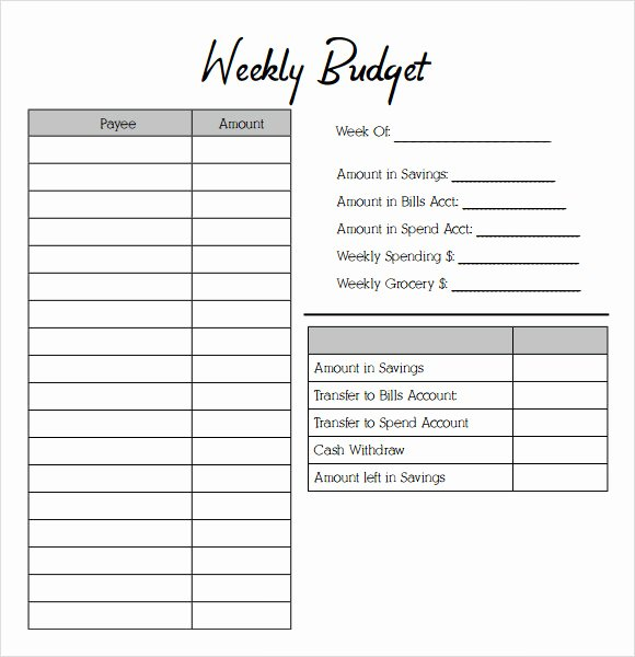 Printable Budget Worksheet Pdf Best Of Free 10 Weekly Bud In Google Docs Google Sheets Ms