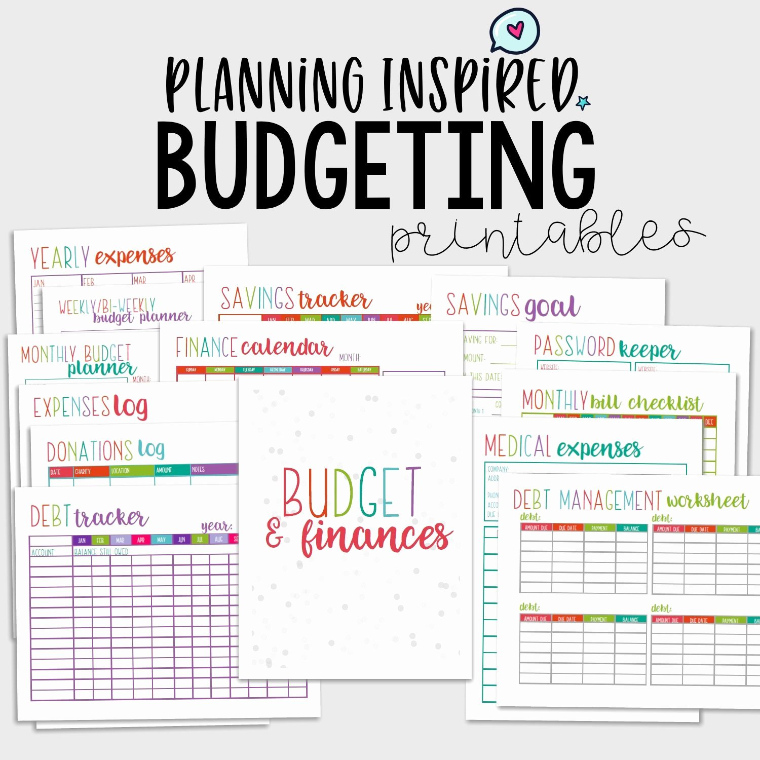 Printable Budget Worksheet Pdf Inspirational Printable Bud Planner Bud Printables Pdf Printable
