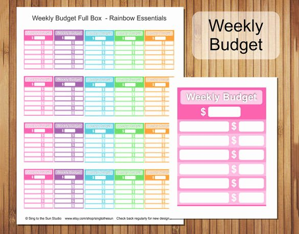 Printable Budget Worksheet Pdf Unique 10 Free Monthly Bud Templates