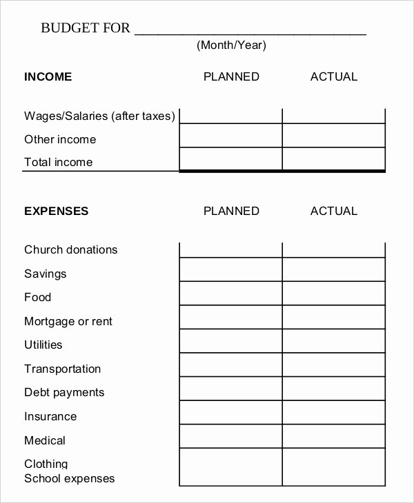 Printable Budget Worksheet Pdf Unique Family Bud Templates
