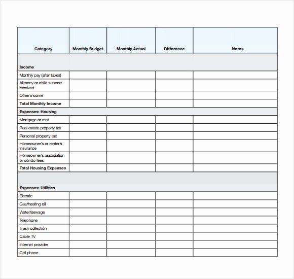 Printable Budget Worksheet Pdf Unique Personal Bud Templates – 7 Free Samples Examples