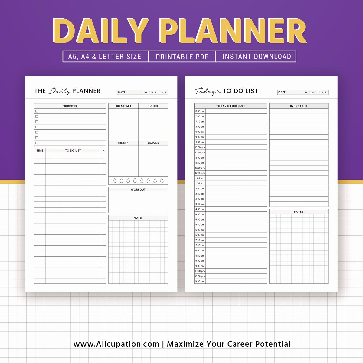 Printable Daily Planner 2019 Awesome 2019 Daily Planner Daily Schedule to Do List Printable