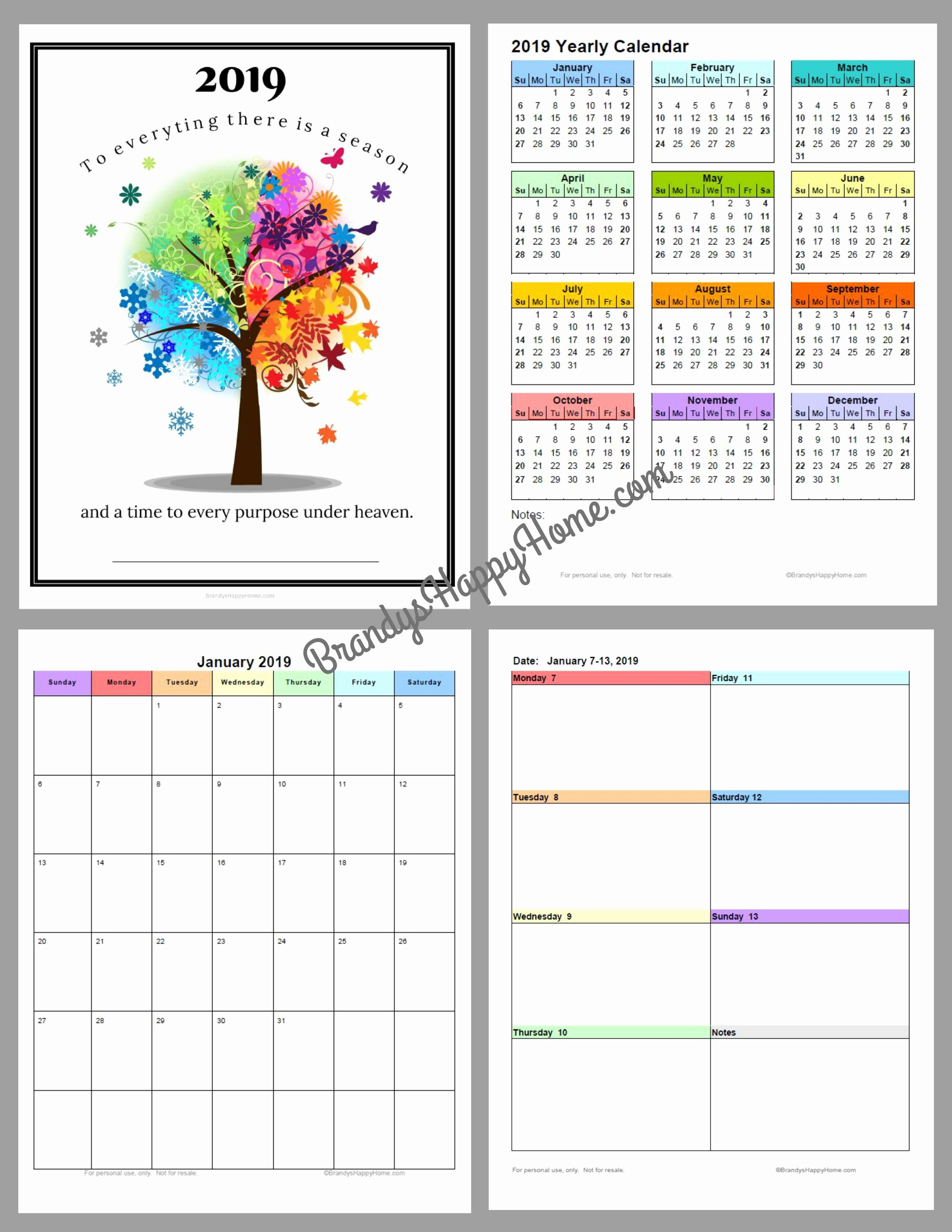 Printable Daily Planner 2019 Awesome Free 2019 Diy Calendar Planner Printables