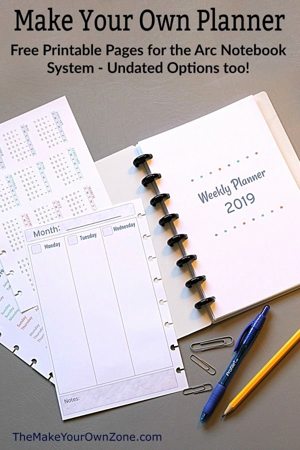 Printable Daily Planner 2019 Beautiful 2019 Free Printable Planner Pages the Make Your Own Zone
