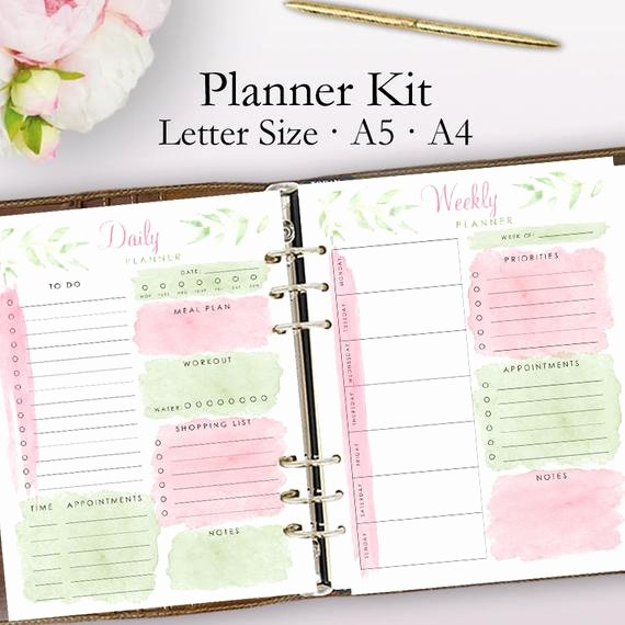 Printable Daily Planner 2019 Best Of 2019 Planner Printable Daily Planner Pages Weekly Planner