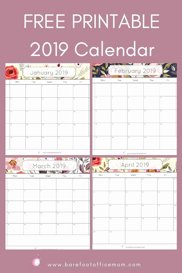 Printable Daily Planner 2019 Elegant Free 2019 Printable Watercolor Calendar Diy Rock Stars