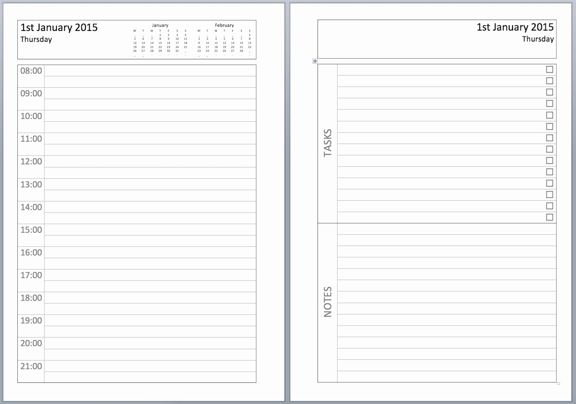 Printable Daily Planner 2019 Inspirational Daily Calendar 2019 Free