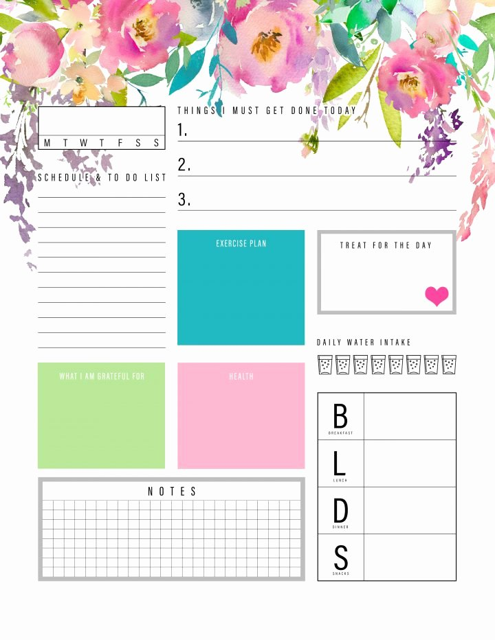 Printable Daily Planner 2019 Inspirational the Best 2019 Free Printable Planner to organize Your Life