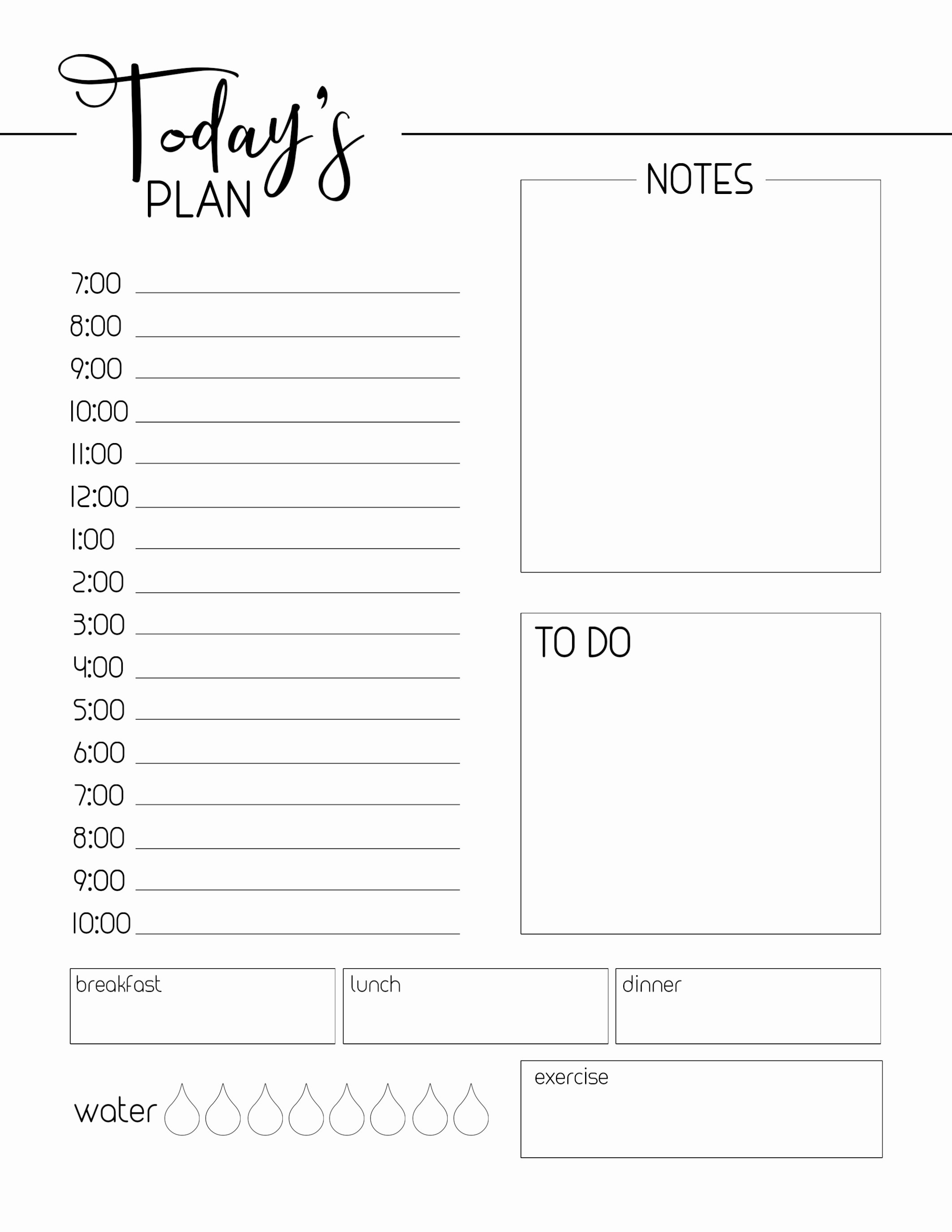 Printable Daily Planner 2019 Luxury Free Printable Daily Planner Template Paper Trail Design