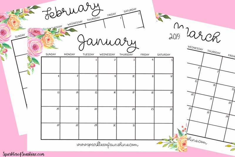 Printable Daily Planner 2019 New Free Printable 2019 Calendar with Weekly Planner