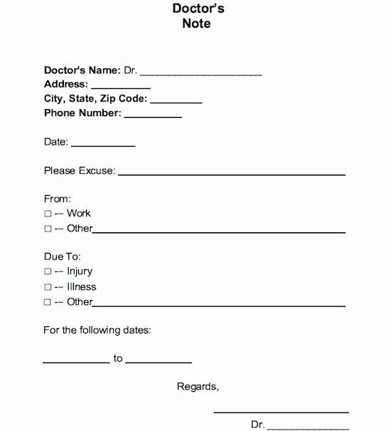 Printable Fake Doctors Notes Free Fresh Download Our Free Doctor Note Templates & Examples if You