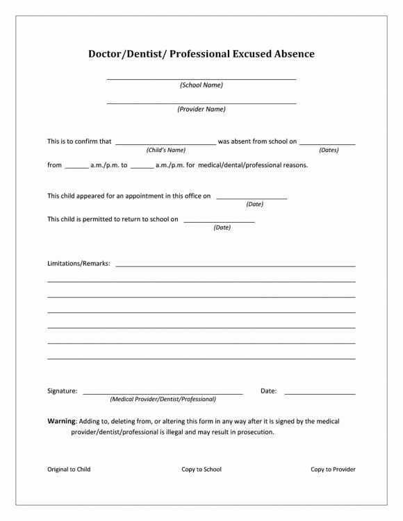 Printable Fake Doctors Notes Free Lovely 42 Fake Doctor S Note Templates for School & Work