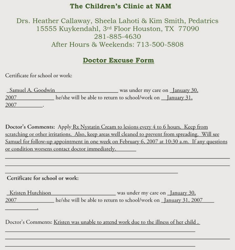 Printable Fake Doctors Notes Free Luxury Creating Fake Doctor S Note Excuse Slip 12 Templates