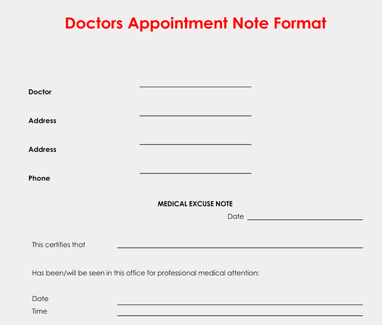 Printable Fake Doctors Notes Free Unique 36 Free Fill In Blank Doctors Note Templates for Work