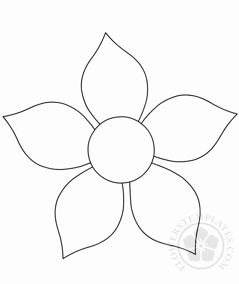 Printable Flower Template Cut Out New Flower Cutout Printable