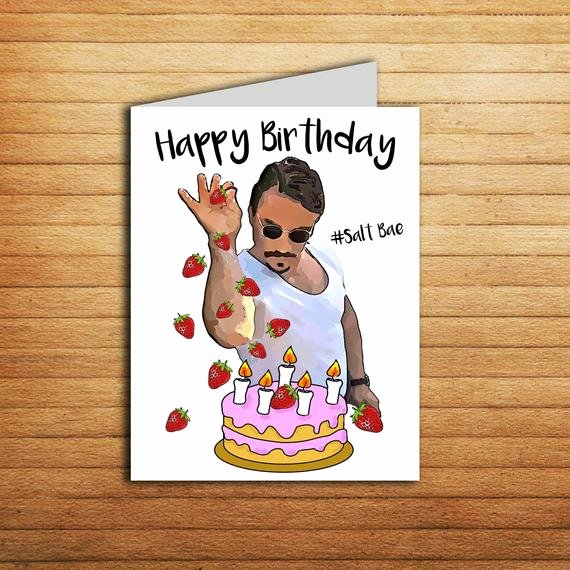 Printable Funny Birthday Card Beautiful Salt Bae Birthday Card Printable Funny Birthday Card for