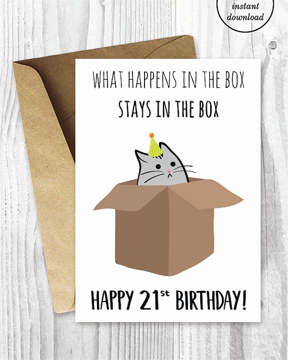 Printable Funny Birthday Card Elegant 21st Birthday Printable Cards Funny 21st Birthday Cards