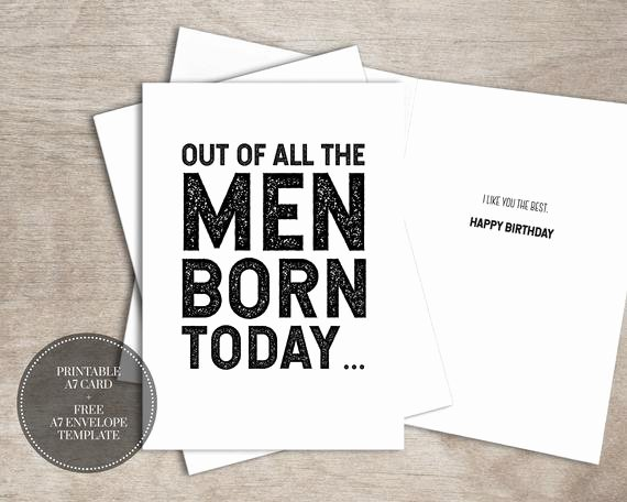 Printable Funny Birthday Card Fresh Printable Funny Birthday Card Instant Download Birthday