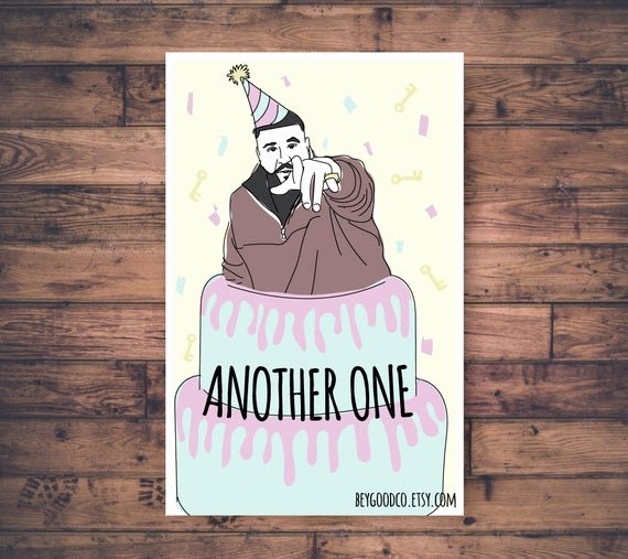 Printable Funny Birthday Card Lovely Dj Khaled Another E Printable Birthday Card Funny