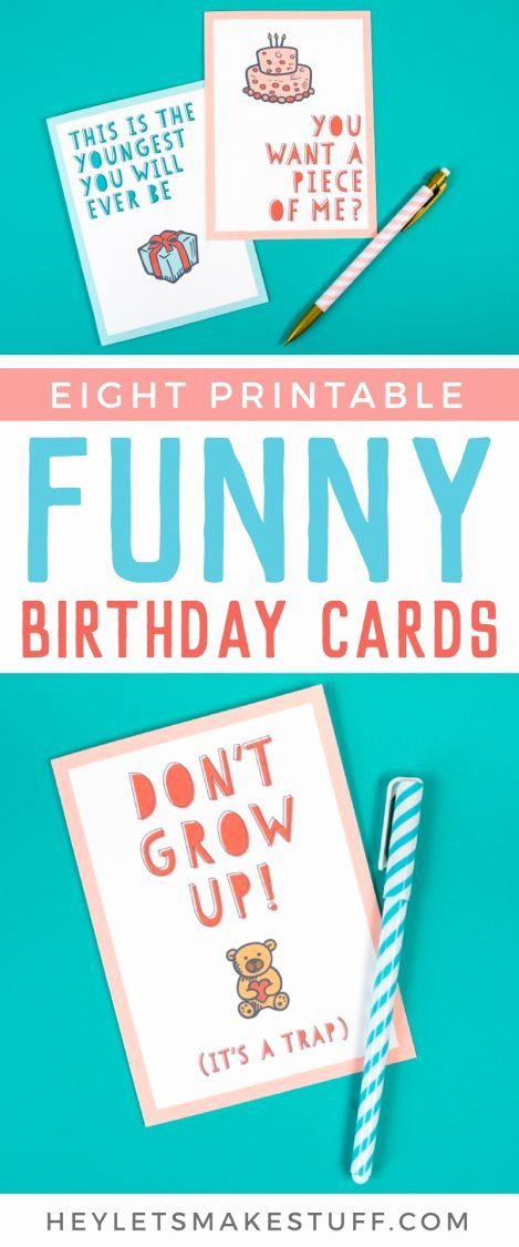 Printable Funny Birthday Cards Beautiful Free Funny Printable Birthday Cards for Adults Eight