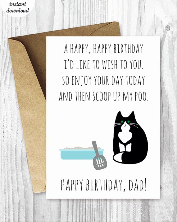 Printable Funny Birthday Cards Best Of Printable Funny Birthday Cards Black and White Cat Cards Cat