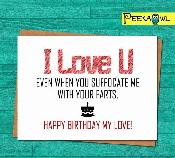 Printable Funny Birthday Cards New Instant Download Funny Birthday Card Boyfriend Husband