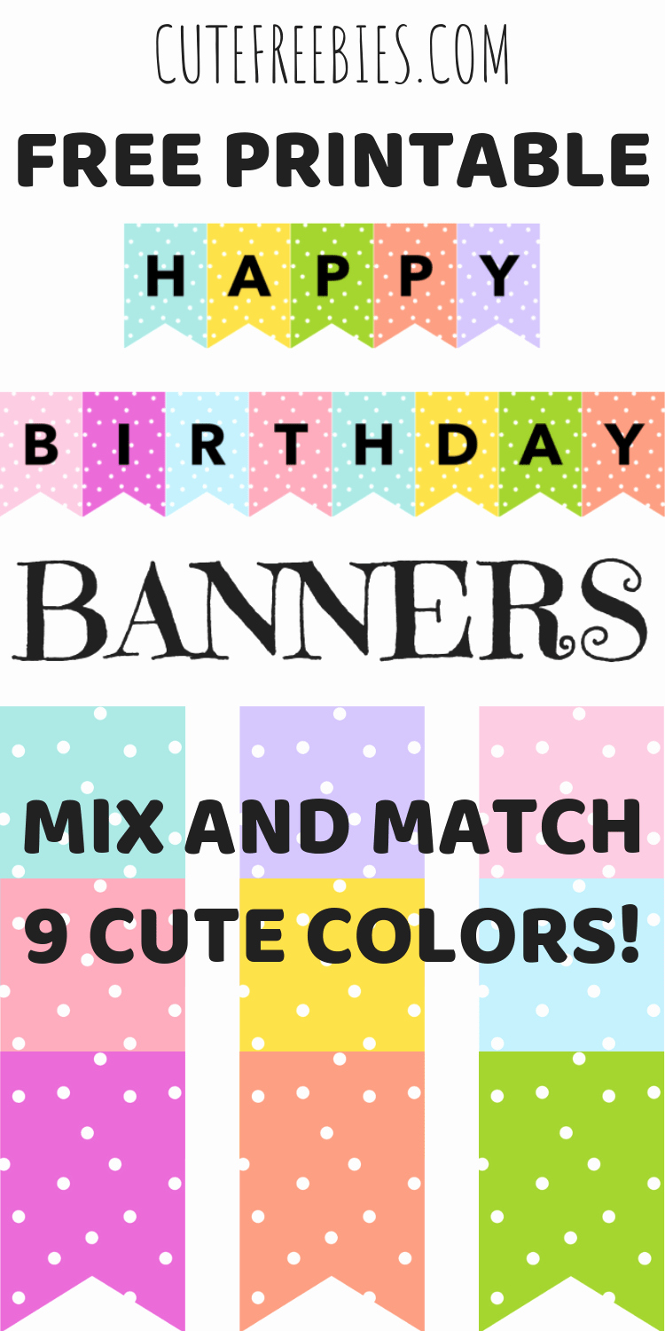Printable Happy Birthday Banners Awesome Happy Birthday Banners Buntings Free Printable
