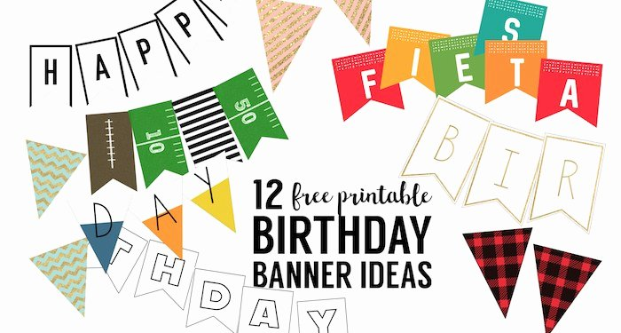 Printable Happy Birthday Banners Best Of Free Printable Birthday Banner Ideas Paper Trail Design
