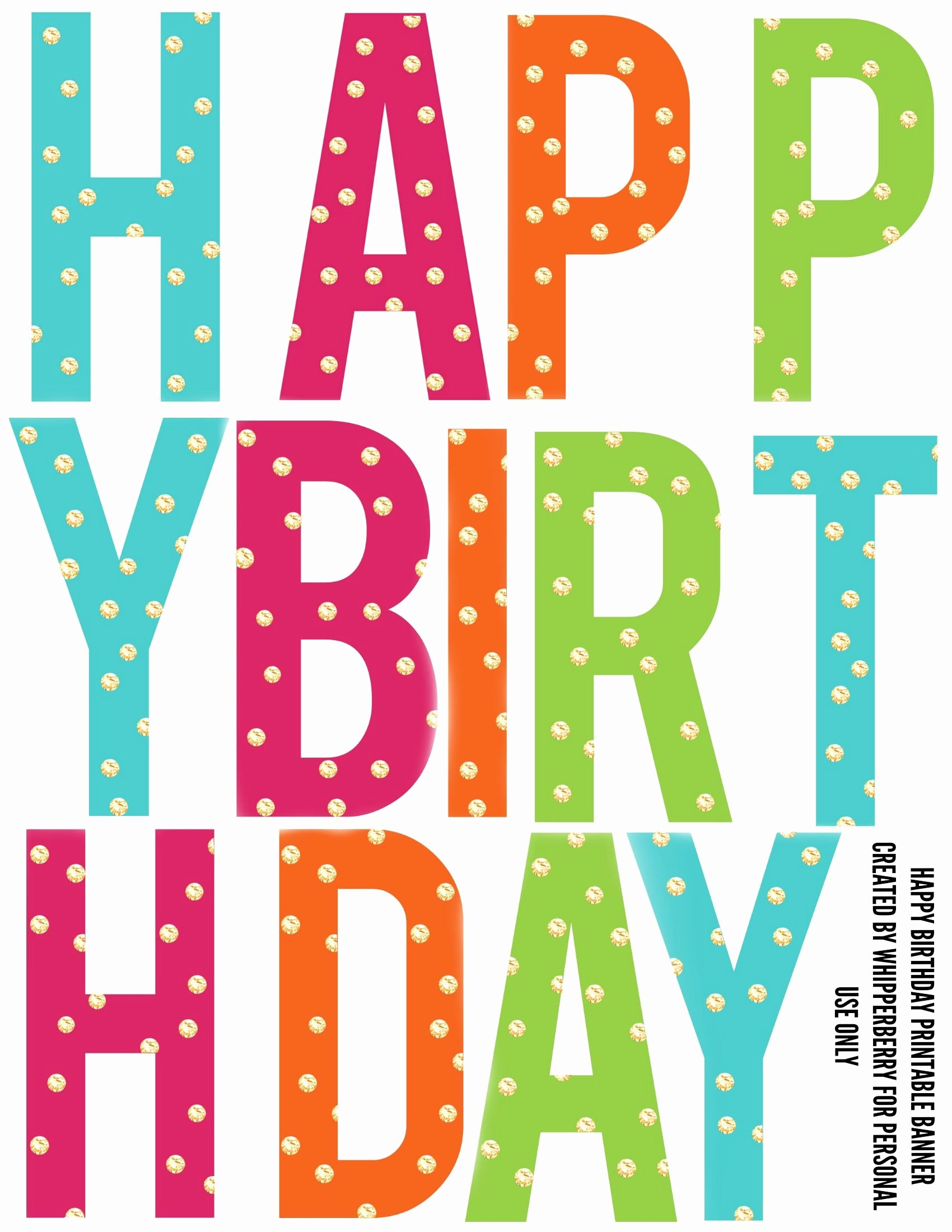 Printable Happy Birthday Banners Elegant Printable Birthday Banner Letters