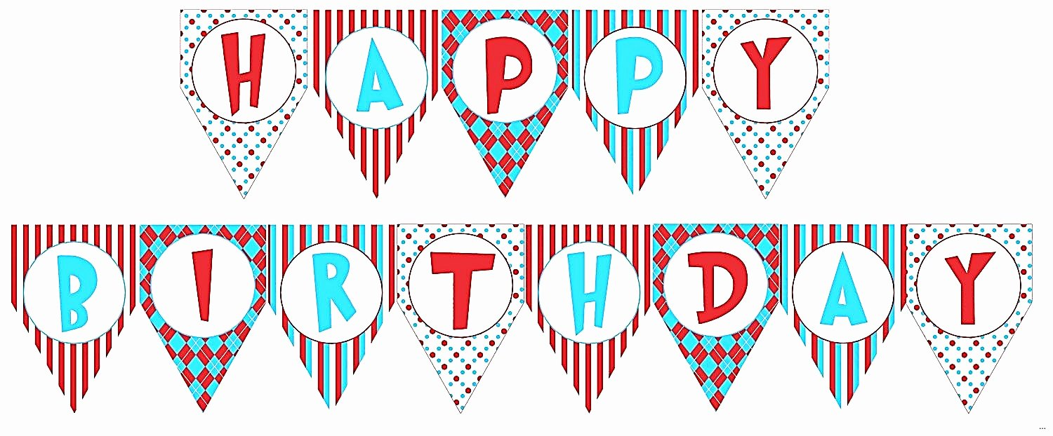 Printable Happy Birthday Banners Lovely Birthday Banner Template Printable