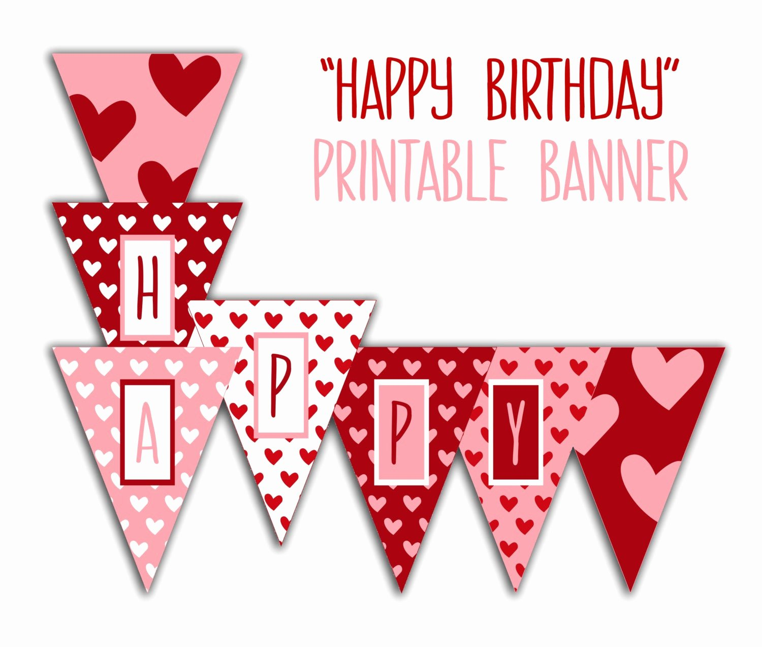 Printable Happy Birthday Banners Lovely Happy Birthday Banner Birthday Party Printable Sign Red