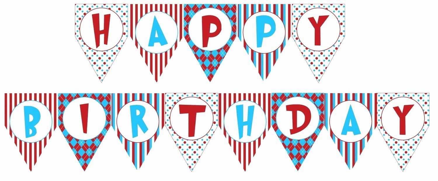 Printable Happy Birthday Banners New Birthday Banner Printable Templates