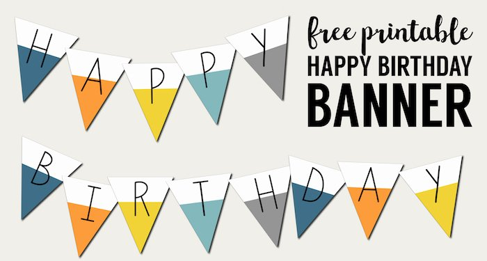 Printable Happy Birthday Banners New Free Printable Happy Birthday Banner Paper Trail Design