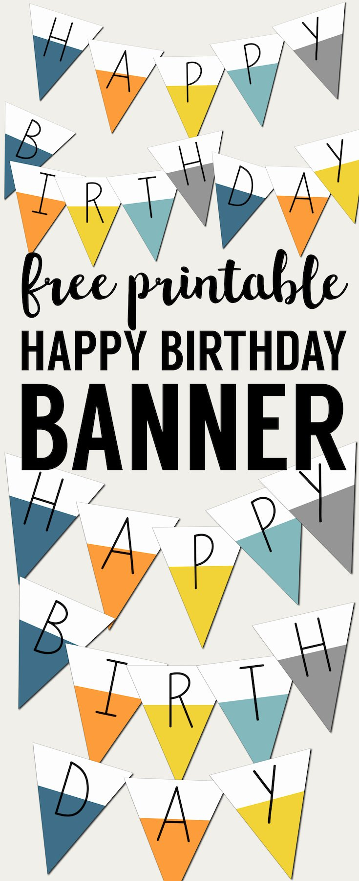 Printable Happy Birthday Banners Unique Free Printable Happy Birthday Banner Paper Trail Design