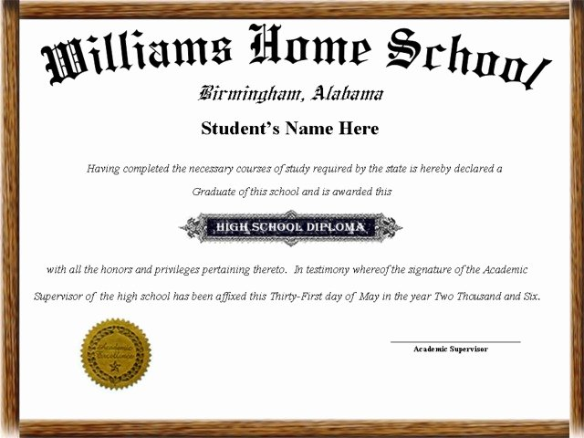 Printable High School Diploma Awesome Home School Diplomas